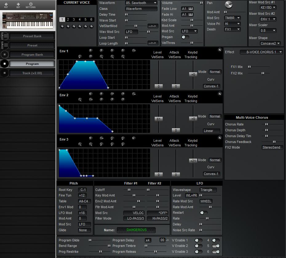 Midi Quest Ensoniq VFX-SD Editor and Librarian for Windows and Macintosh