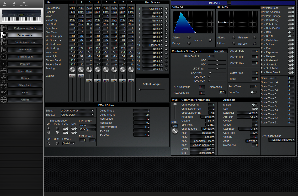 Midi Quest Korg N5 Editor and Librarian for Windows and