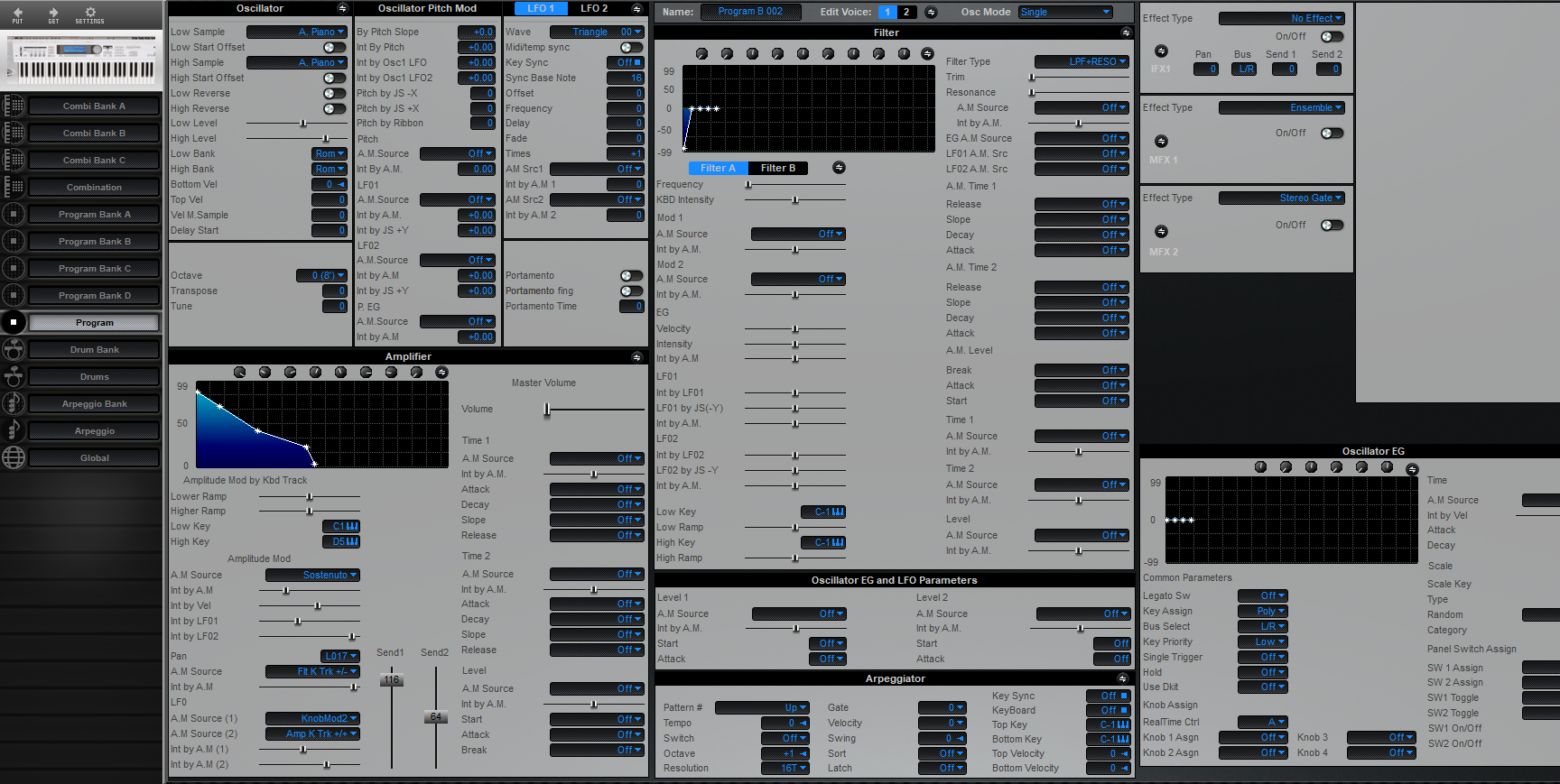 Midi Quest Korg Triton LE 61 Editor and Librarian for Windows and