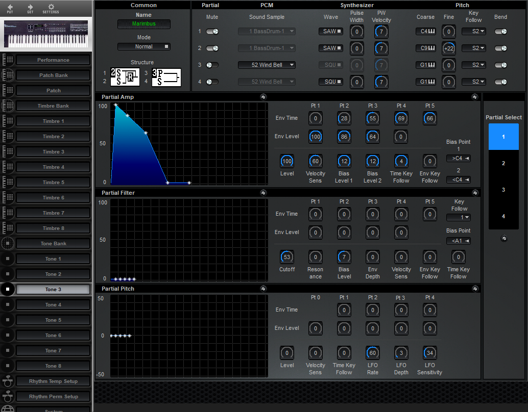 Midi Quest Roland D-10 Editor and Librarian for Windows and
