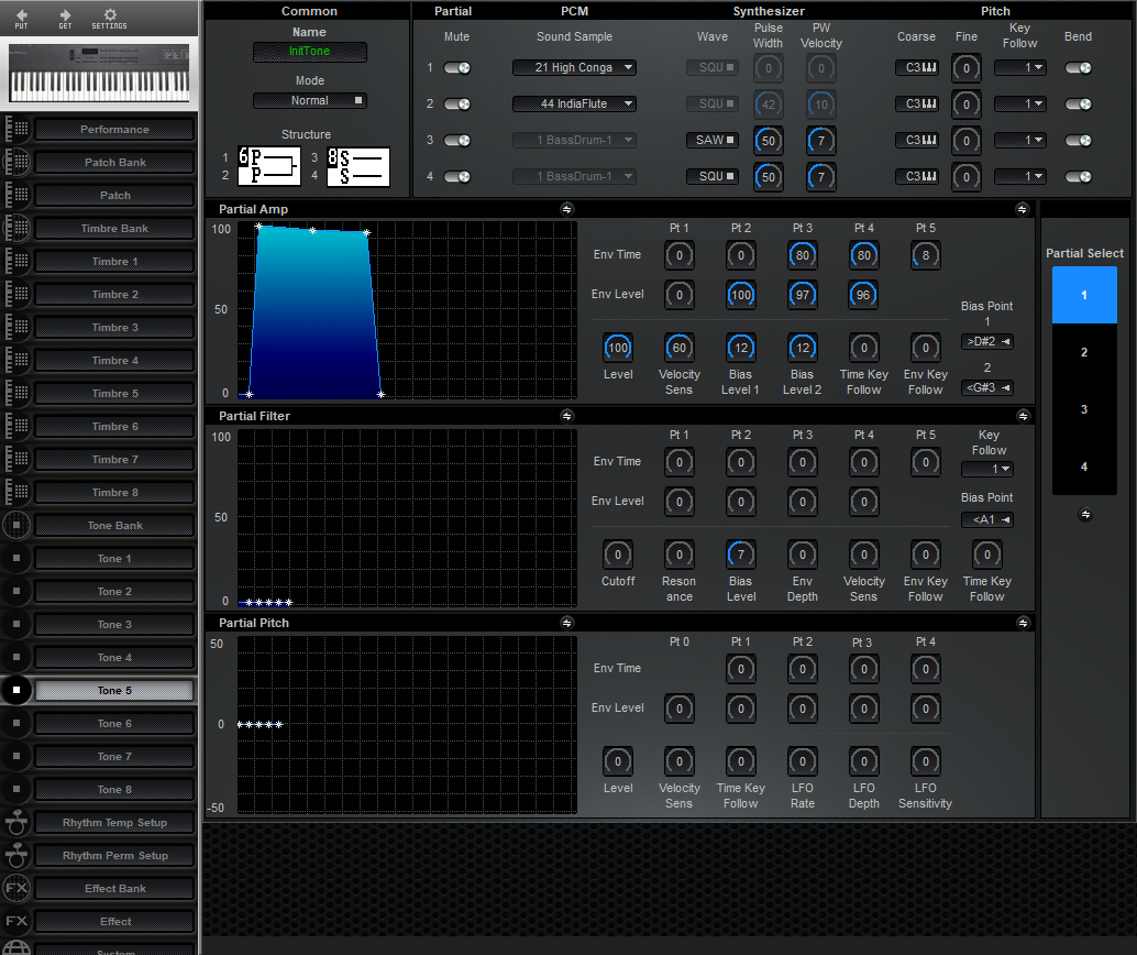 Midi Quest Roland D-5 Editor and Librarian for Windows and