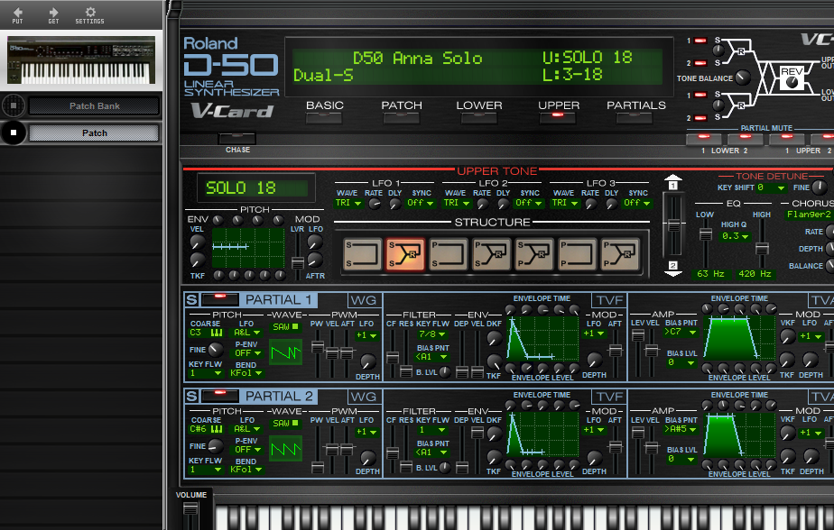 Midi Quest Roland D-550 Editor and Librarian for Windows and