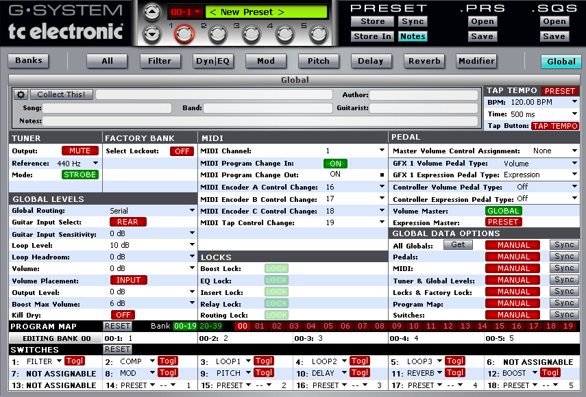 Midi Quest TC Electronic G-System Editor/Librarian for iPad
